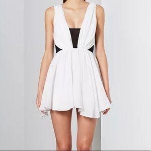 BEC & BRIDGE WHITE A LINE DRESS SHORT STRAPS